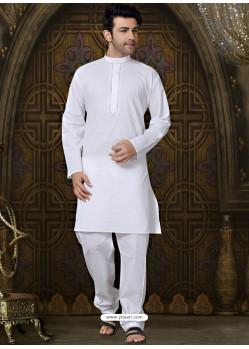White Festival Wear Kurta Pajama