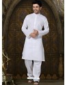 Self Designed Cotton Kurta Payjama
