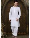 White Eidwear Kurta Pajama