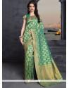 Integral Banarasi Silk Weaving Work Traditional Designer Saree