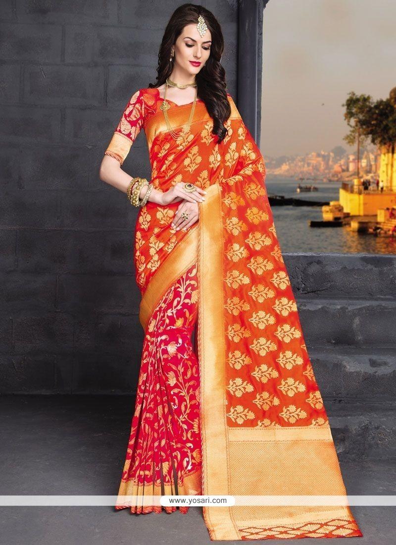 Strange Banarasi Silk Weaving Work Traditional Designer Saree