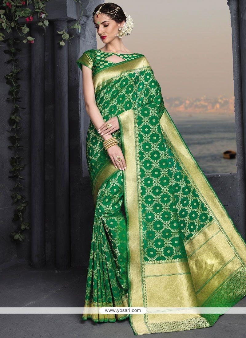 Sterling Weaving Work Banarasi Silk Traditional Saree