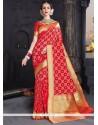 Picturesque Weaving Work Designer Traditional Saree