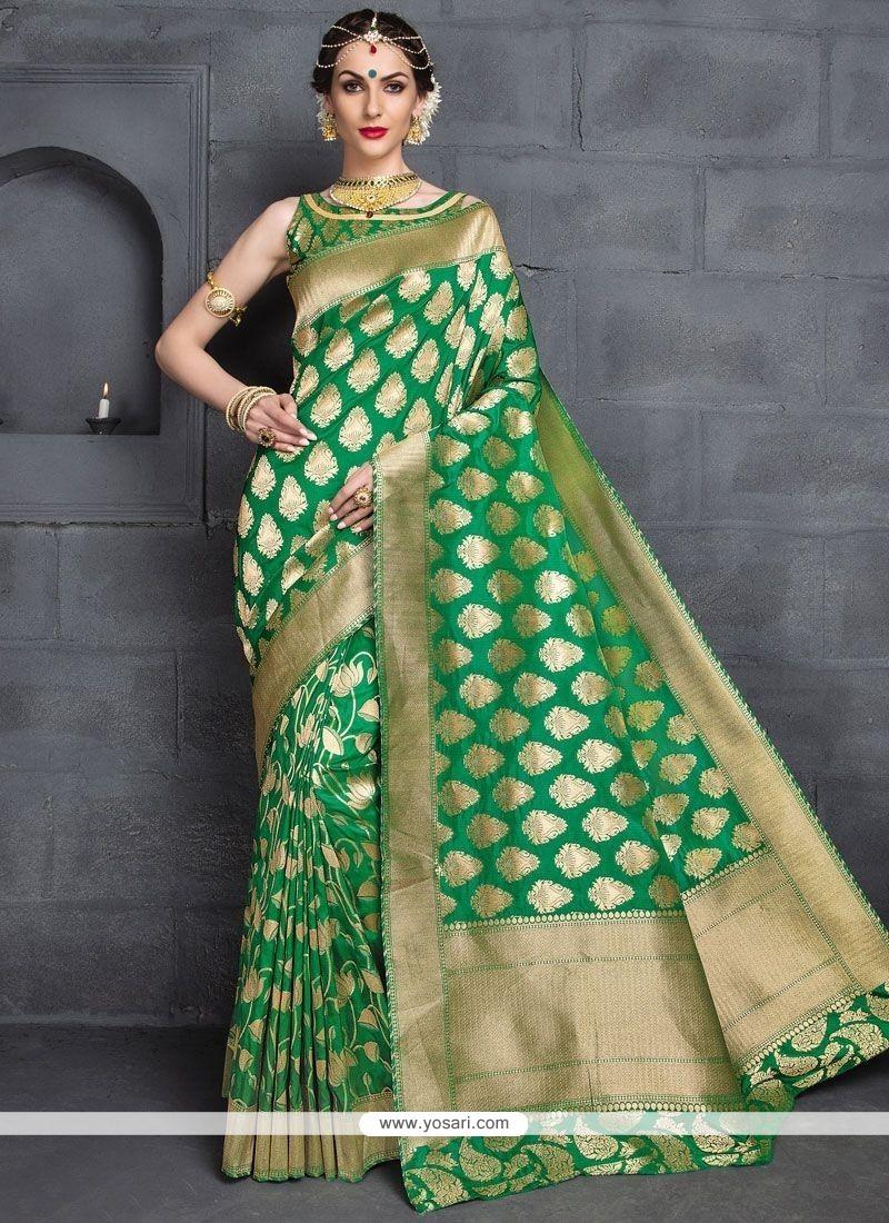 Fashionable Banarasi Silk Designer Traditional Saree