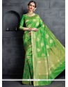 Green Weaving Work Banarasi Silk Designer Traditional Saree