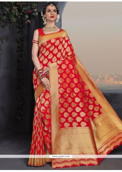 Catchy Weaving Work Traditional Designer Saree