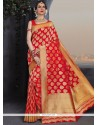 Catchy Weaving Work Traditional Designer Saree