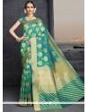 Magnificent Sea Green Designer Traditional Saree