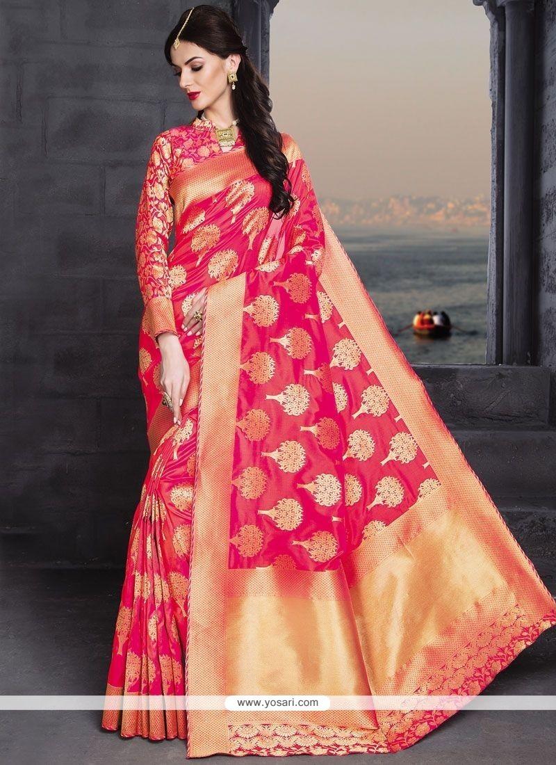 Opulent Weaving Work Banarasi Silk Traditional Designer Saree