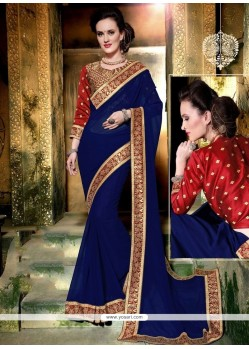Enticing Faux Georgette Saree