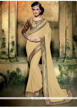 Perfervid Faux Georgette Embroidered Work Designer Saree
