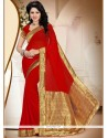 Exceptional Red Saree