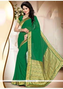 Flawless Green Designer Saree