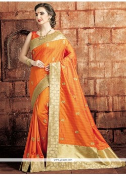 Fashionable Art Raw Silk Designer Traditional Saree