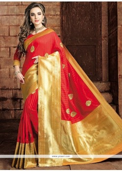 Ravishing Weaving Work Art Raw Silk Traditional Designer Saree