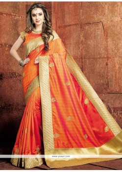 Scintillating Weaving Work Designer Traditional Saree