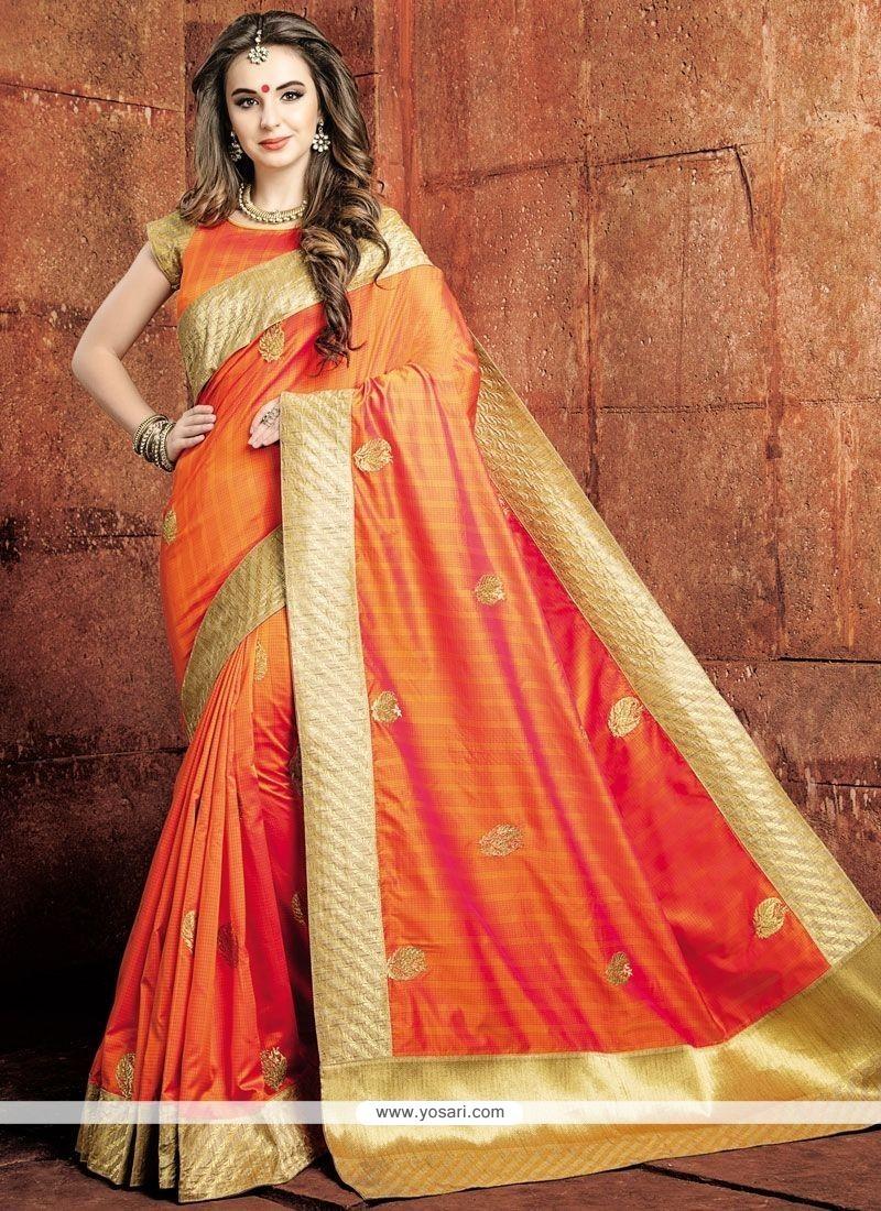 Scintillating Weaving Work Designer Traditional Saree