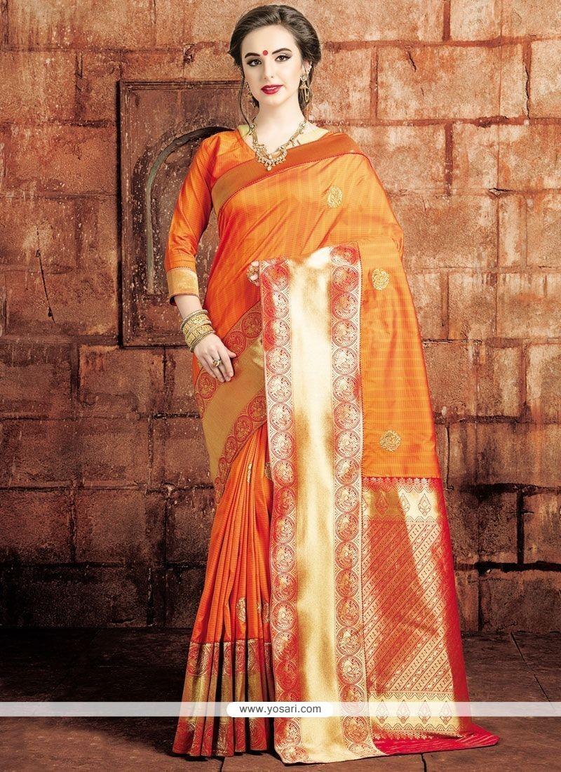 Monumental Weaving Work Traditional Saree