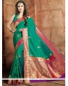 Distinctively Art Raw Silk Weaving Work Designer Traditional Saree