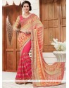 Resplendent Faux Georgette Patch Border Work Printed Saree