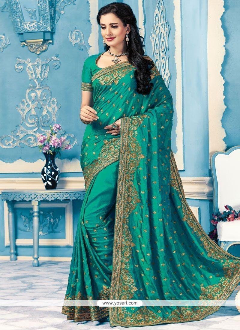 Invaluable Green Classic Designer Saree
