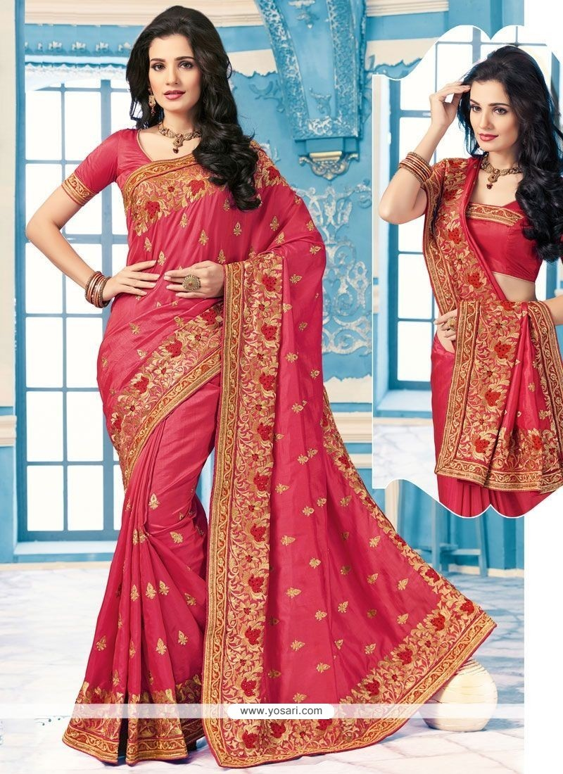 Outstanding Crepe Silk Patch Border Work Classic Saree
