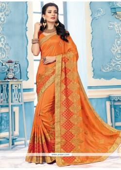 Mesmeric Crepe Silk Embroidered Work Classic Designer Saree