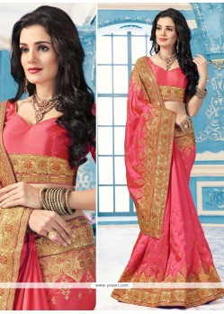 Astonishing Crepe Silk Embroidered Work Saree