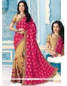 Snazzy Crepe Silk Embroidered Work Designer Half N Half Saree