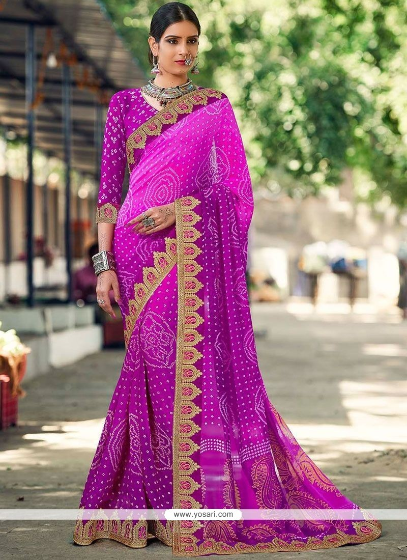 Honourable Printed Saree For Party