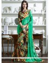Classical Faux Georgette Multi Colour Print Work Printed Saree