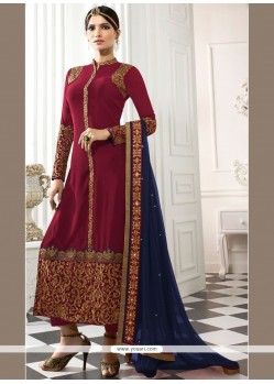 Glitzy Embroidered Work Churidar Designer Suit
