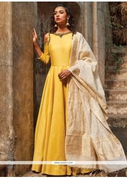 Sophisticated Satin Silk Stone Work Floor Length Anarkali Suit