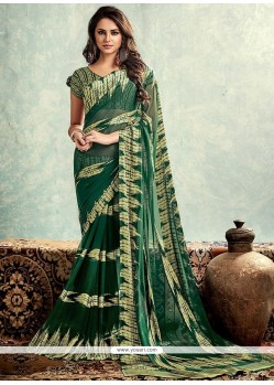 Mystical Print Work Weight Less Printed Saree