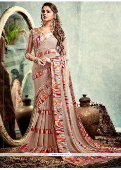 Phenomenal Print Work Printed Saree
