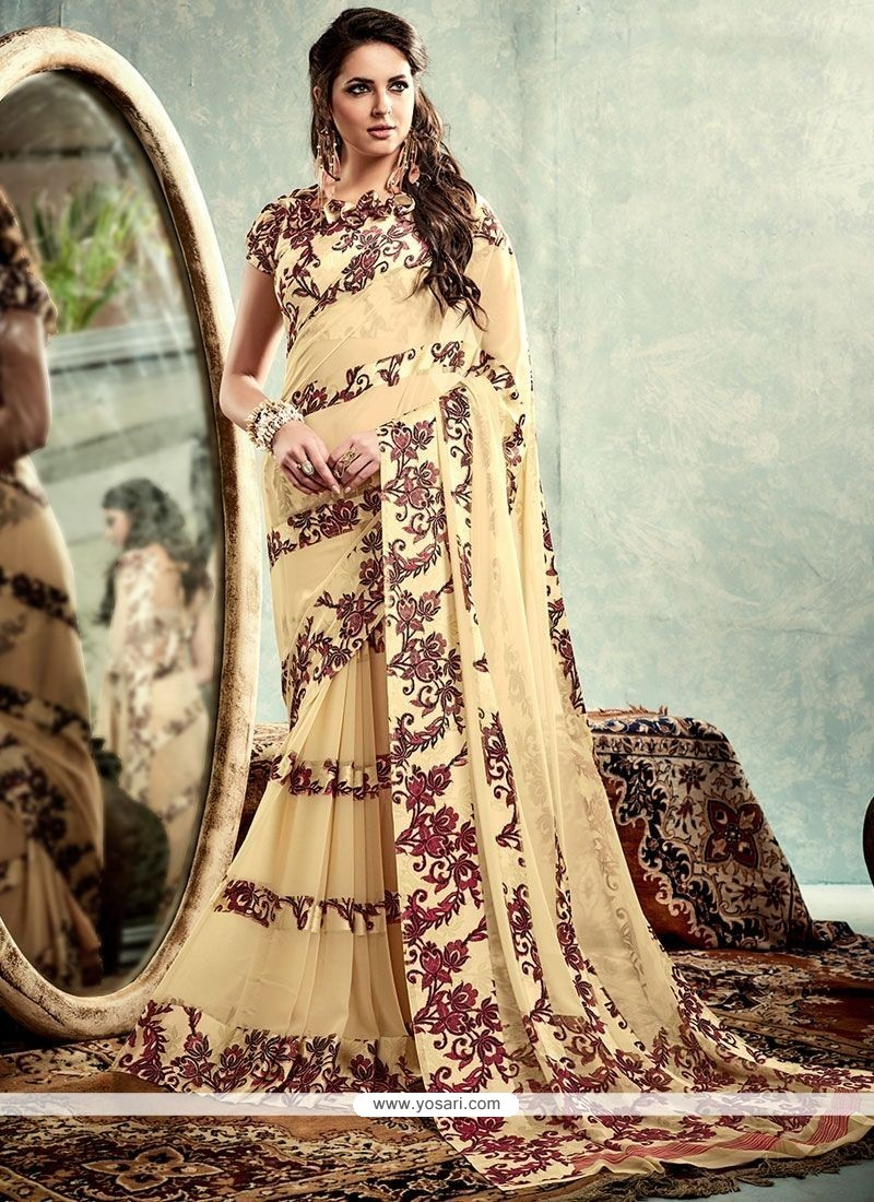 Outstanding Weight Less Print Work Printed Saree
