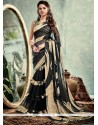Print Weight Less Printed Saree In Black