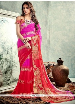 Riveting Weight Less Print Work Printed Saree
