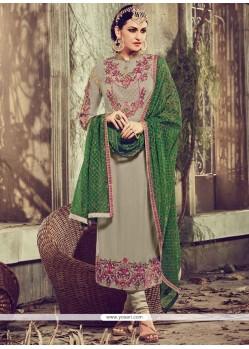 Mystic Resham Work Churidar Designer Suit