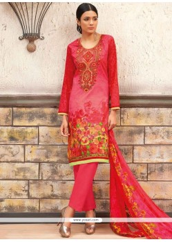 Mesmeric Multi Colour Print Work Cotton Designer Palazzo Suit