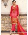 Mesmeric Multi Colour Print Work Cotton Designer Palazzo Suit