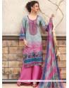 Ruritanian Cotton Multi Colour Print Work Designer Palazzo Suit