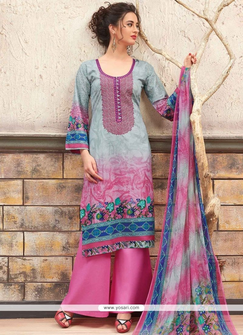eaa014a1eff Buy Ruritanian Cotton Multi Colour Print Work Designer Palazzo Suit ...