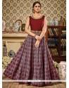 Deserving Maroon Floor Length Anarkali Suit