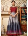 Fab Multi Colour Art Silk Floor Length Anarkali Suit