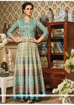 Staggering Art Silk Floor Length Anarkali Suit