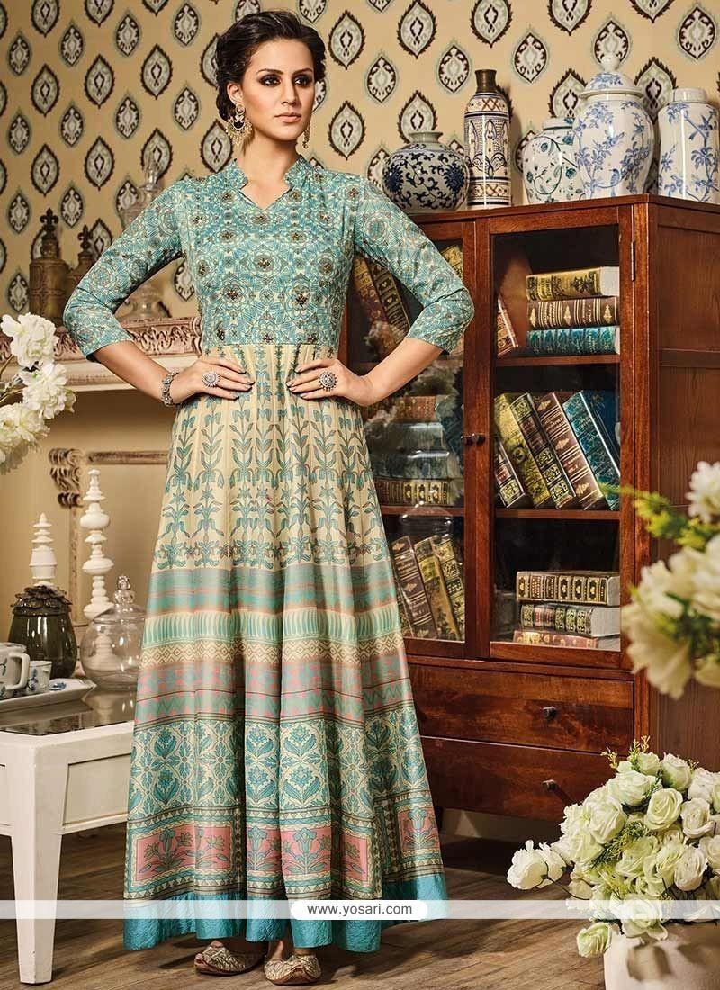 Staggering Art Silk Floor Length Anarkali Suit