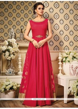 Superb Patch Border Work Floor Length Anarkali Suit