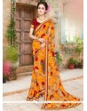 Aesthetic Faux Georgette Multi Colour Print Work Printed Saree
