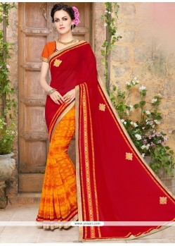 Majesty Print Work Half N Half Saree